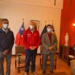 Alcalde Juan Carlos Alfaro y Administrador Municipal Wilson Núñez se reunieron con el Intendente Pablo Herman para agilizar proyectos para Andacollo